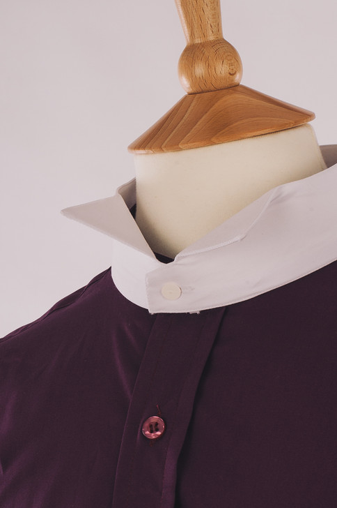 Women's Plum 100% Egyptian Cotton Court Shirt