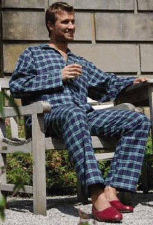 Luxury brushed cotton pyjamas made in Ireland for Magee of Donegal