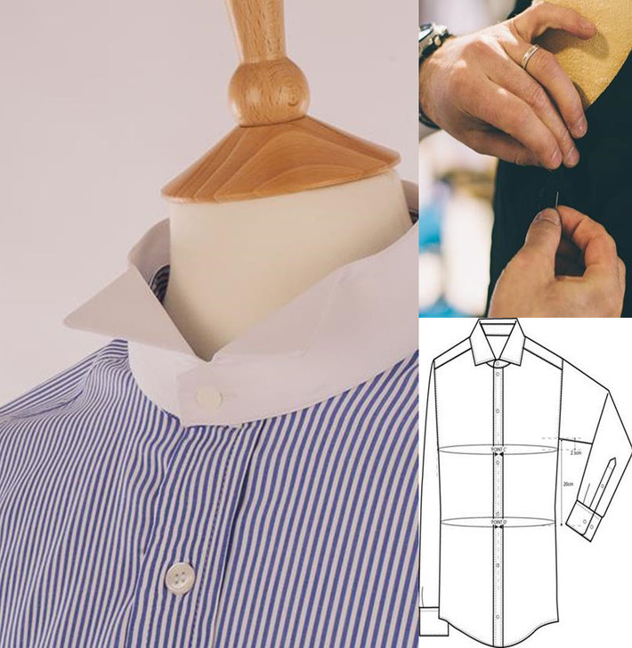 Men's Made to Measure Barrister Shirt - in 100% Egyptian Cotton