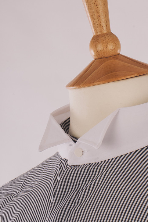 Grey Stripe Court Shirt - Inishowen
