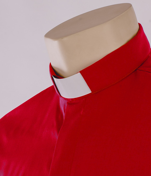 Red Tunnel Collar Clergy Shirt - Carrowmenagh
