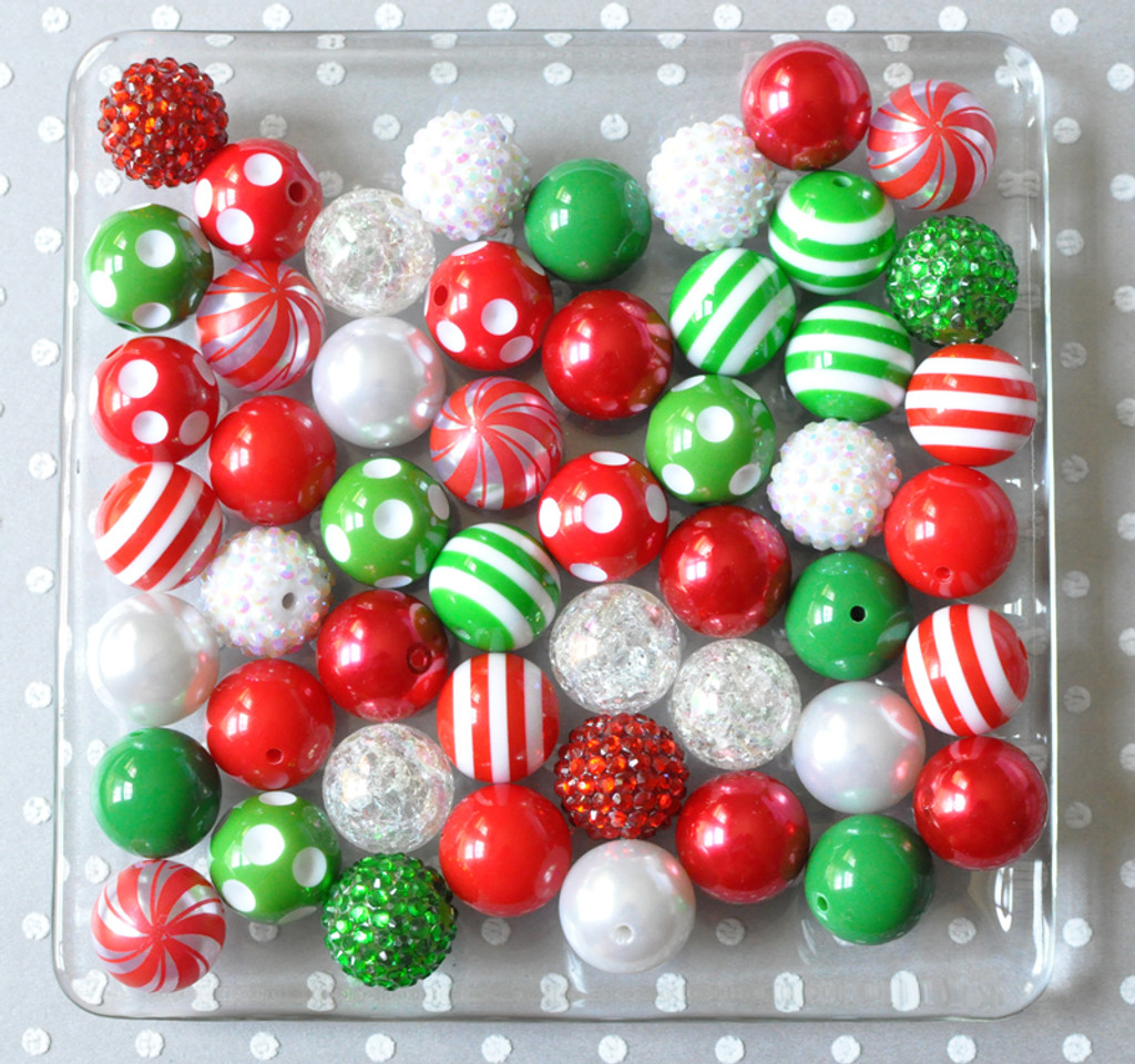 Christmas Candy.Christmas Candy Bubblegum Bead Wholesale Kit