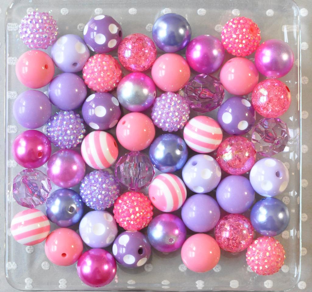 Rosy Orchid bubblegum bead wholesale kit