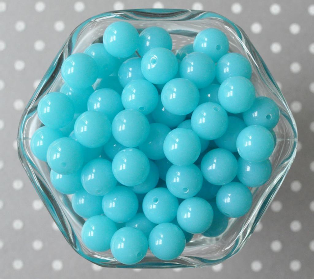12mm Ocean blue solid small bubblegum beads in bulk