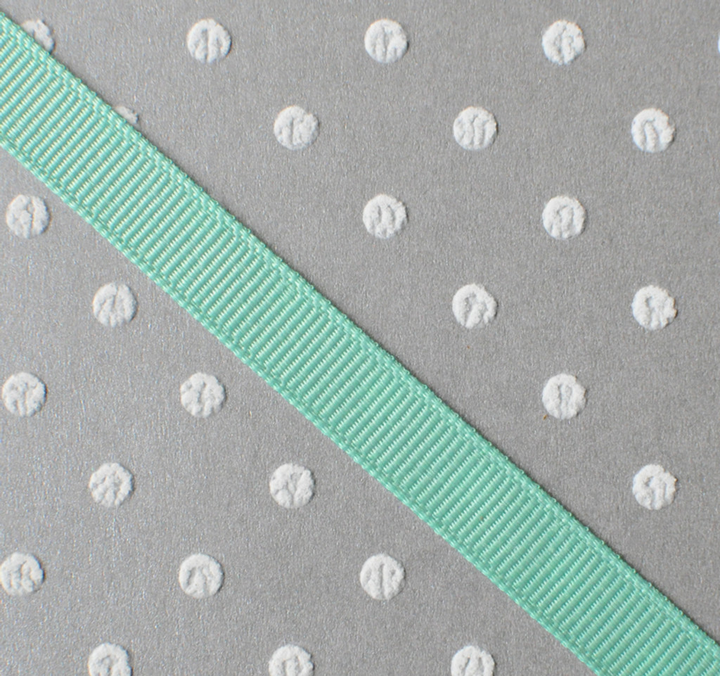 """3/8"""" Lucite green solid grosgrain Offray"""