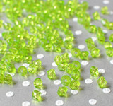 6mm Lime green bicone acrylic beads