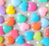 18mm Puffy heart multi-color acrylic beads