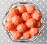 Apricot opaque faceted acrylic beads