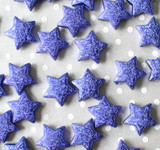 23mm Royal blue Metallic foil stardust Star beads