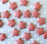 23mm Copper red Metallic foil stardust Star beads