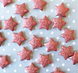 23mm Copper red Metallic foil stardust Star beads