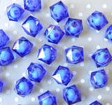 20mm Royal blue ice cube faceted acrylic beads