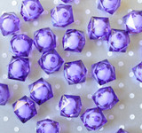 20mm Purple ice cube faceted acrylic beads