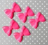 French Pink big bow acrylic beads