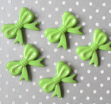 46mm Granny Smith Green bow with tails acrylic beads