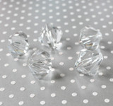 27mm Clear bicone acrylic beads