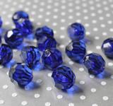 20mm Dark royal blue faceted bubblegum beads