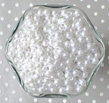 6mm White acrylic pearl spacer beads