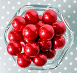 20mm Red pearl bubblegum beads for chunky necklaces