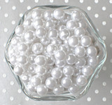 10mm White acrylic pearl beads