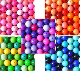 Awesome solids Jumbo variety mix of chunky bubblegum beads