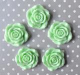 42mm jumbo Mint green resin flower beads