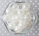 20mm Clear AB crackle bubblegum chunky beads