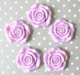 Light orchid purple resin flower beads