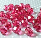 20mm Azalea faceted bubblegum beads