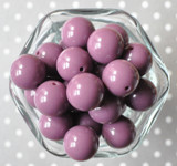 20mm Thistle purple solid bubblegum beads