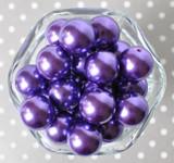 20mm Sugar plum purple pearl bubblegum beads for chunky jewelry