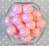 20mm Pink solid AB bubblegum beads