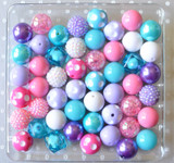 Hot pink, purple, and turquoise bubblegum bead kit