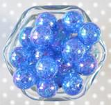 20mm Royal AB crackle bubblegum beads