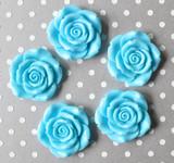 Mystic blue resin flower beads for bubblegum necklaces