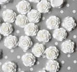 20mm White rose resin flatback flowers