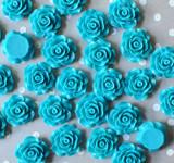 20mm Turquoise resin flatback flowers
