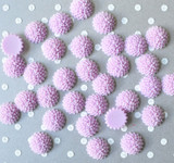 15mm Lavender mum resin flatback flowers