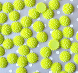 15mm Lime green mum resin flatback flowers