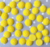 15mm Yellow mum resin flatback flowers