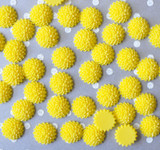 15mm Yellow mum resin flatback flowers