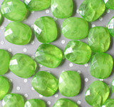 30mm Apple green marble swirl faceted rectangular cushion acrylic beads