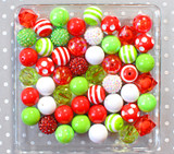 Mr. Grinch red and lime green bubblegum bead wholesale kit