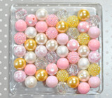 Pretty Baby pink, butter yellow, ivory bubblegum bead wholesale kit