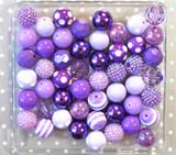 Purple chunky bubblegum bead variety mix