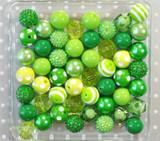 Green chunky bubblegum bead variety mix