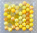 Yellow chunky bubblegum bead variety mix