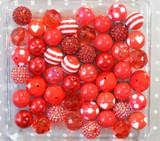 Red chunky bubblegum bead variety mix