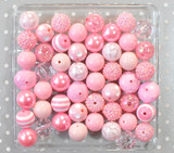 Pink chunky bubblegum bead variety mix