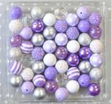 SIlver Orchid purple bubblegum bead wholesale kit